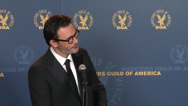 Michel Hazanavicius on the film and event at 64th Annual DGA Awards Press Room on 1/28/12 in Los Angeles CA