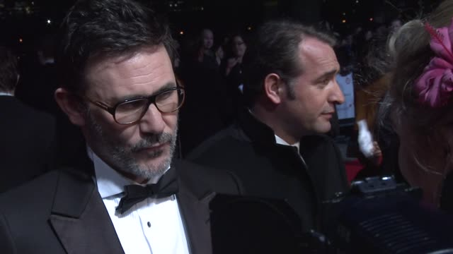 Michel Hazanavicius talking to media at 32nd London Critics' Circle Film Awards 2012 Red Carpet Arrivals at BFI Southbank on January 19 2012 in...
