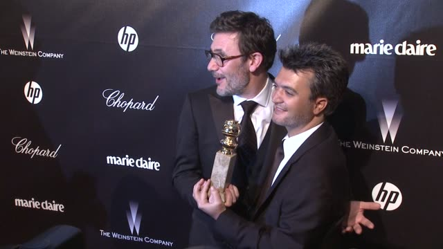 Michel Hazanavicius Thomas Langmann at The Weinstein Company Golden Globe AfterParty at The Beverly Hilton Hotel on 1/15/12 in Los Angeles CA