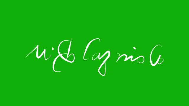 ミケランジェロ-定番のアニメーションに緑色の画面 - ミケランジェロ点の映像素材/bロール