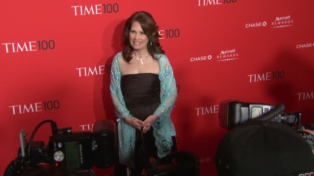 vídeos de stock, filmes e b-roll de michele bachmann at the time 100 gala time's 100 most influential people in the world at new york ny - evento anual
