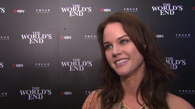 interview michele boyd on attending comiccon on the fans who dress up and on what she's working on at ign focus features celebrate the world's end... - 2013 stock-videos und b-roll-filmmaterial