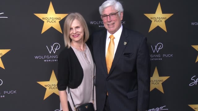 michele gold, julian gold at wolfgang puck star ceremony celebration in los angeles, ca 4/26/17 - wolfgang puck stock videos & royalty-free footage