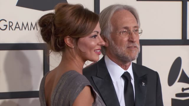 Michele Tebbe and Neil Portnow at the 57th Annual Grammy Awards Red Carpet at Staples Center on February 08 2015 in Los Angeles California