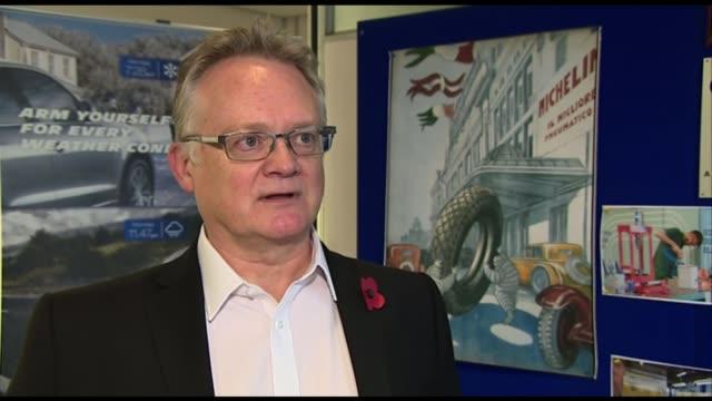 michelin to close dundee factory; scotland: dundee: int john reid interview sot. - スコットランド ダンディー点の映像素材/bロール