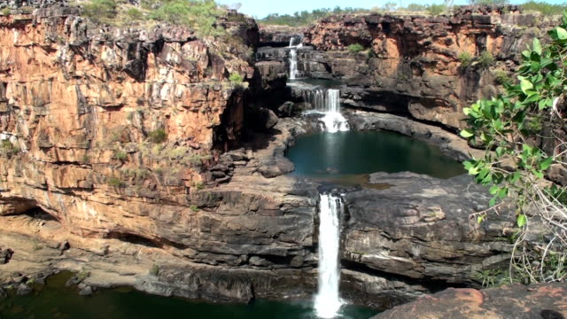 michell falls in western australia - waterfall stock videos & royalty-free footage