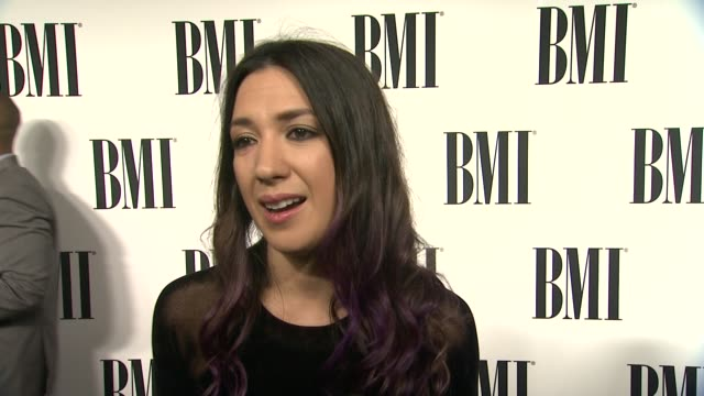 vídeos de stock, filmes e b-roll de interview michelle branch on the event songwriting at 62nd annual bmi pop awards in los angeles ca - michelle branch