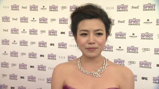 michelle chen on the event at piaget at the 2012 film independent spirit awards on 2/25/12 in los angeles ca - independent feature project stock videos and b-roll footage