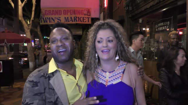 vídeos de stock, filmes e b-roll de interview michelle costa lawton talk about what was best big brother season outside the big brother 18 cast finally party at cliftons in los angeles... - big brother