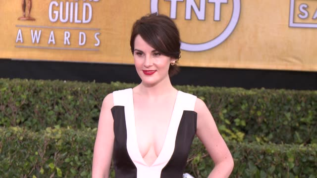 michelle dockery at 20th annual screen actors guild awards arrivals at the shrine auditorium on in los angeles california - shrine auditorium stock videos & royalty-free footage
