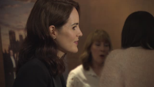 Michelle Dockery at Downton Abbey press screening at The Mayfair Hotel on August 13 2015 in London England