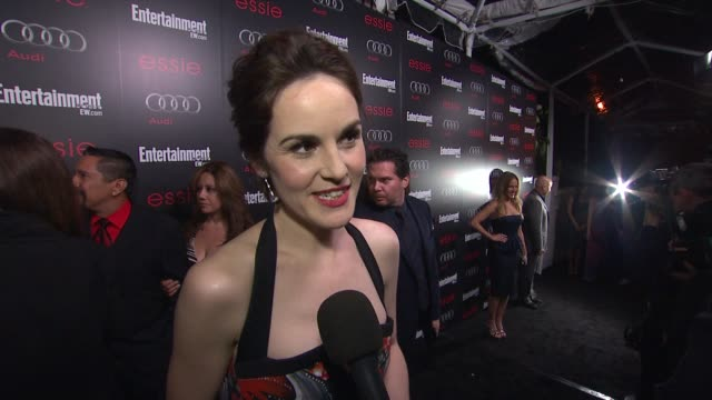 INTERVIEW Michelle Dockery on awards season on the SAG Awards on the positive reaction people have to the show and on the new season at Entertainment...