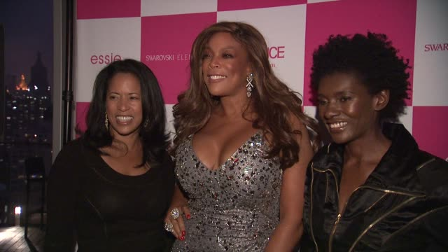 michelle ebanks, wendy williams, constance white at the essence's wendy williams cover party/girlfriend's appreciation day at new york ny. - white点の映像素材/bロール