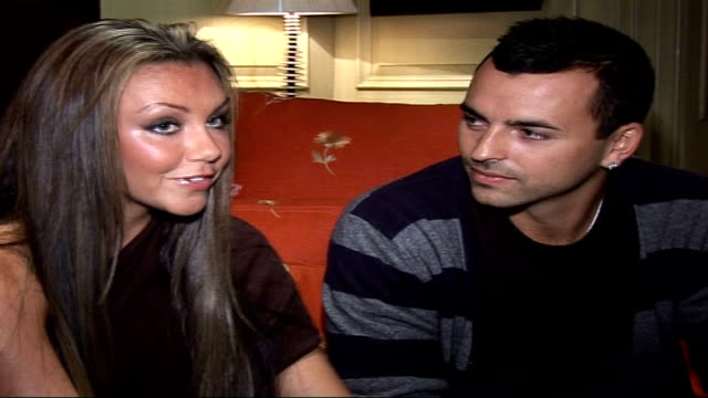 michelle heaton and andy scott lee interview on jordan being her bridesmaid / talks about britney spears marriage split / talks about their own... - bridesmaid stock videos and b-roll footage