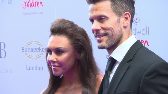 michelle heaton hugh hanley at the caudwell children butterfly ball at grosvenor house on june 14 2018 in london england - hugh grosvenor stock videos & royalty-free footage
