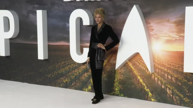 michelle hurd at 'star trek: picard' premiere at odeon luxe leicester square on january 15, 2020 in london, england. - hd format stock videos & royalty-free footage