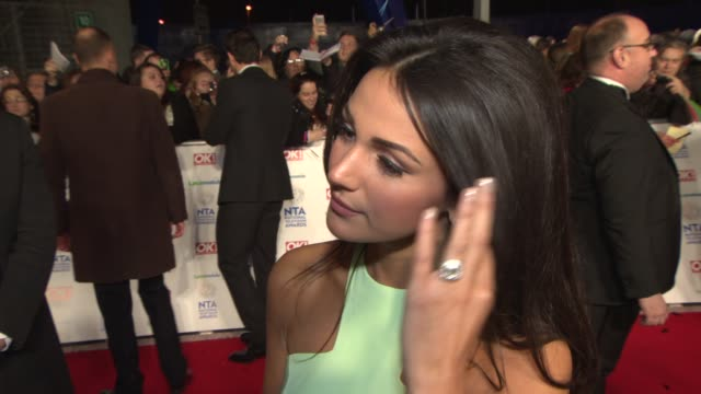 INTERVIEW Michelle Keegan on Hayley's departure from Coronation St at National Television Awards at 02 Arena on January 22 2014 in London England