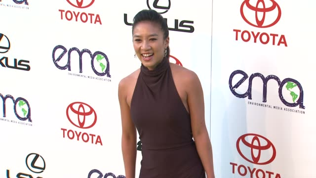 michelle kwan at the 2011 environmental media awards at burbank ca. - environmental media awards stock videos & royalty-free footage