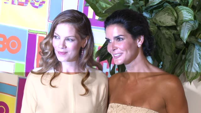 michelle monaghan and angie harmon at hbo's official 2014 emmy after party at the plaza at the pacific design center on august 25, 2014 in los... - angie harmon stock videos & royalty-free footage
