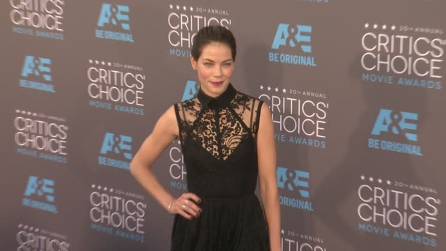 michelle monaghan at the 20th annual critics' choice awards at hollywood palladium on january 15 2015 in los angeles california - neckwear stock videos and b-roll footage