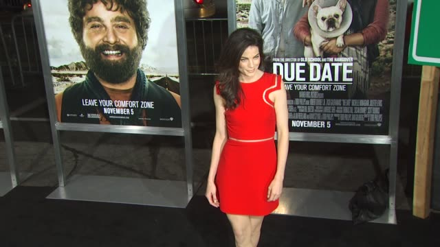 michelle monaghan at the 'due date' premiere at hollywood ca - michelle monaghan stock videos & royalty-free footage
