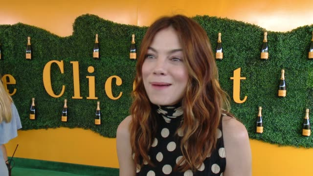 interview michelle monaghan at will rogers state historic park on october 15 2016 in pacific palisades california - pacific palisades stock videos & royalty-free footage