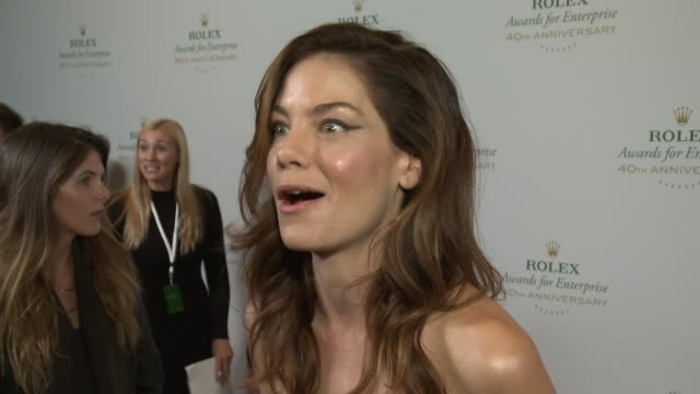 interview michelle monaghan on why innovation in science the environment exploration and cultural heritage is important why environmental issues are... - michelle monaghan stock videos & royalty-free footage