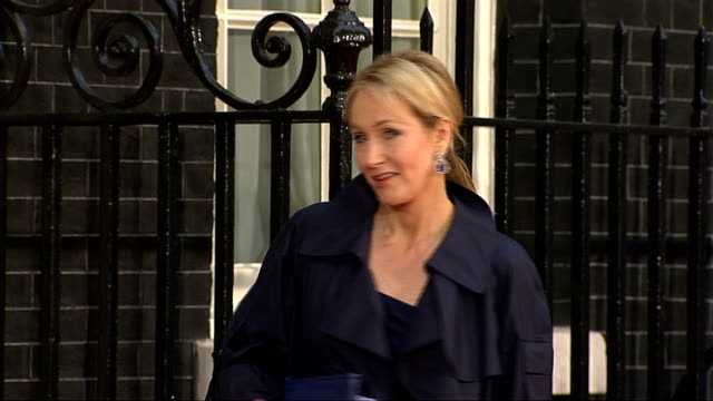 michelle obama wows london jkrowling dame kelly holmes and dame tanny greythomson arriving at number 10 for dinner with michelle obama and other g20... - j.k. rowling stock videos and b-roll footage