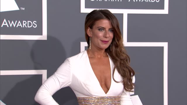 michelle pesce at the 55th annual grammy awards arrivals in los angeles ca on 2/10/13 - grammy awards stock videos and b-roll footage