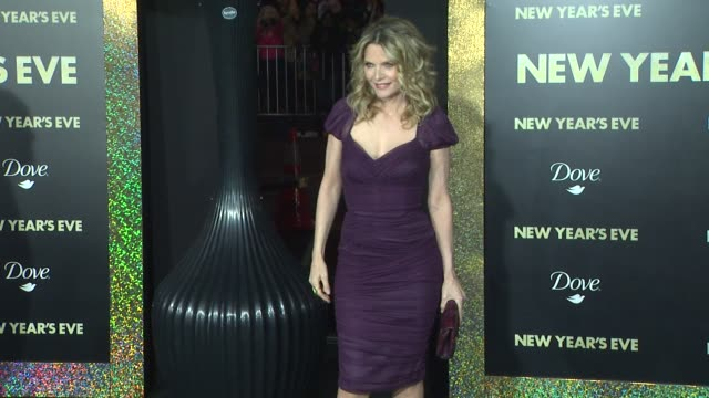 michelle pfeiffer at new year's eve world premiere on 12/5/11 in hollywood ca - michelle pfeiffer stock videos & royalty-free footage