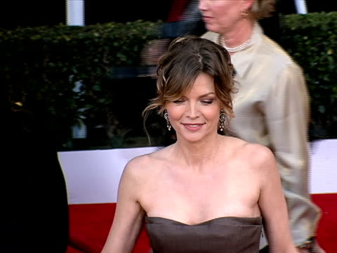 michelle pfeiffer at the 14th annual screen actors guild awards at los angeles ca - michelle pfeiffer stock videos & royalty-free footage