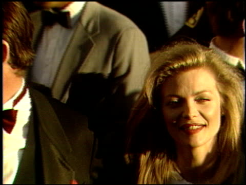michelle pfeiffer at the 1989 academy awards at the shrine auditorium in los angeles california on march 29 1989 - michelle pfeiffer stock videos & royalty-free footage