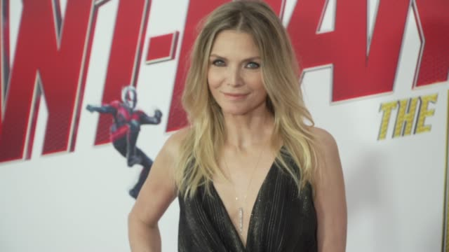 michelle pfeiffer at the antman and the wasp world premiere at the el capitan theatre on june 25 2018 in hollywood california - michelle pfeiffer stock videos & royalty-free footage