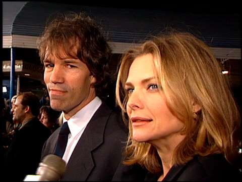 michelle pfeiffer at the 'one fine day' premiere on december 7 1996 - michelle pfeiffer stock videos & royalty-free footage