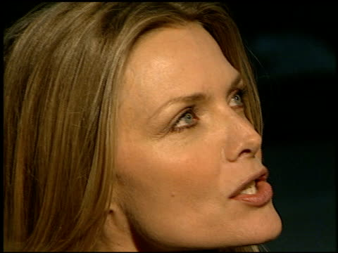 michelle pfeiffer at the 'william shakespeare's a midsummer night's dream' premiere at the bruin theatre in westwood california on april 26 1999 - michelle pfeiffer stock videos & royalty-free footage