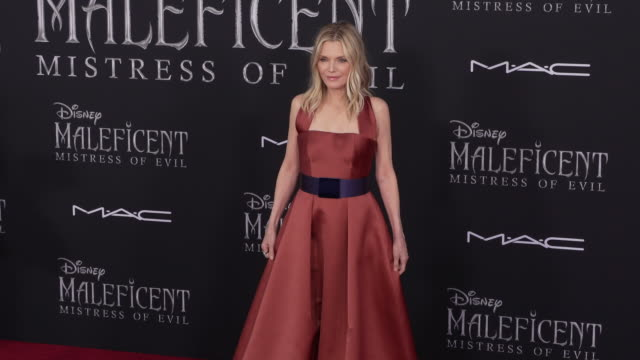 michelle pfeiffer at the world premiere of disney's maleficent mistress of evil on september 30 2019 in hollywood california - michelle pfeiffer stock videos & royalty-free footage
