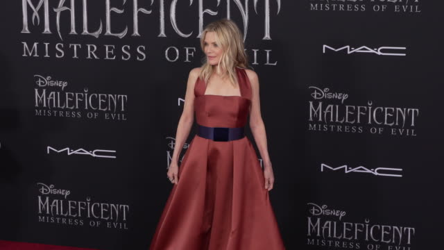 michelle pfeiffer at the world premiere of disney's maleficent mistress of evil - michelle pfeiffer stock videos & royalty-free footage