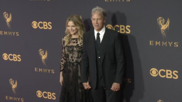 Michelle Pfeiffer David E Kelley at the 69th Annual Primetime Emmy Awards at Microsoft Theater on September 17 2017 in Los Angeles California