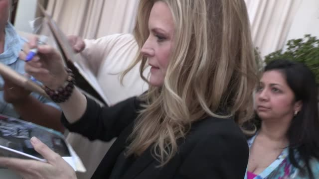 michelle pfeiffer greets fans at sls hotel in beverly hills 05/06/12 - michelle pfeiffer stock videos & royalty-free footage