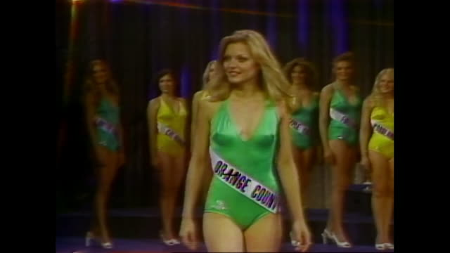 michelle pfeiffer miss photogenic at miss california beauty pageant 1978 miss california international beauty pageant 1978 michelle pfeiffer wins... - beauty contest stock videos and b-roll footage