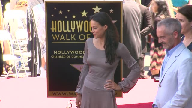 michelle rodriguez and vin diesel at vin diesel honored with star on the hollywood walk of fame michelle rodriguez and vin diesel at vin diesel ho at... - vin diesel stock videos and b-roll footage
