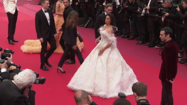 michelle rodriguez at 'once upon a time in hollywood ' red carpet arrivals the 72nd cannes film festival at grand theatre lumiere on may 21 2019 in... - grand theatre lumiere stock videos & royalty-free footage