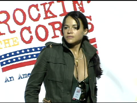 michelle rodriguez at the rockin' the corp an american thank you celebration concert for us marines at camp pendelton marine base in oceanside... - oceanside stock videos and b-roll footage
