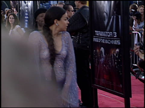 michelle rodriguez at the 'terminator 3: rise of the machines' premiere on june 30, 2003. - terminator 3: rise of the machines stock videos & royalty-free footage