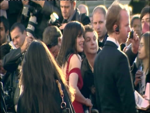 michelle ryan greets fans on the red carpet at british academy television awards including london 26 april 2009 - british academy television awards stock videos & royalty-free footage