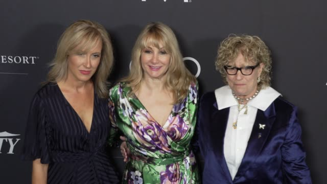 michelle sobrino-stearns, dea lawrence and claudia eller at the variety's power of women: los angeles at the beverly wilshire four seasons hotel on... - フォーシーズンズホテル点の映像素材/bロール