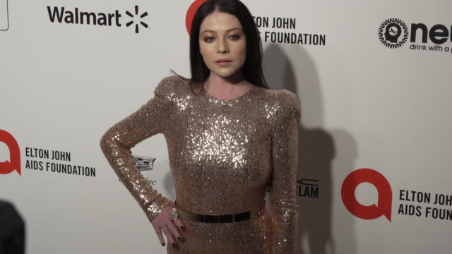 michelle trachtenberg at the 28th annual elton john aids foundation academy awards viewing party sponsored by imdb, walmart and neuro drinks at the... - michelle trachtenberg stock videos & royalty-free footage
