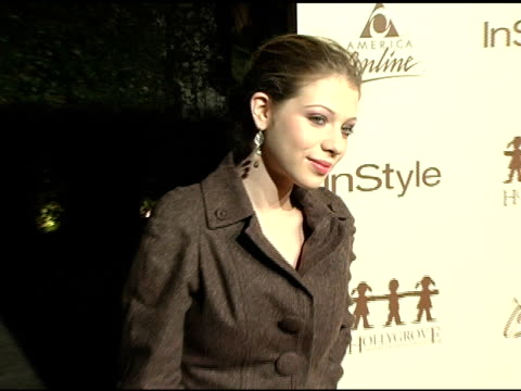 michelle trachtenberg at the launch party benefitting hollygrove hosted by instyle and america online at mortons in west hollywood, california on... - michelle trachtenberg stock videos & royalty-free footage
