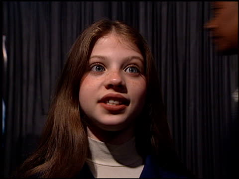 michelle trachtenberg at the 'mercury rising' premiere at academy theater in beverly hills, california on april 1, 1998. - michelle trachtenberg stock videos & royalty-free footage