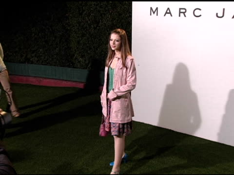 michelle trachtenberg at the opening of marc jacobs' three los angeles stores at 8400 melrose place in los angeles, california on march 17, 2005. - michelle trachtenberg stock videos & royalty-free footage